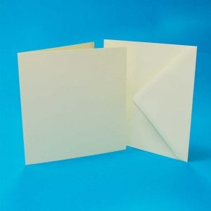 8 X 8 Ivory Envelope &  Cards ( Pack Of 6)