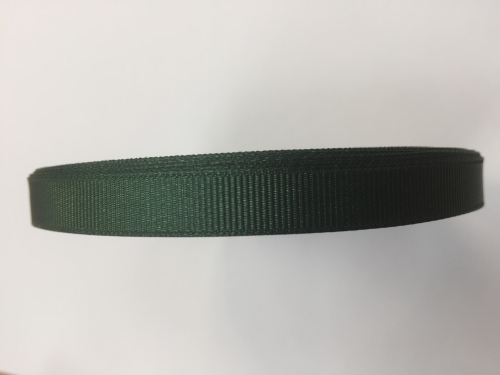1 x Dark Green Grosgrain Ribbon 10mm x 22metres