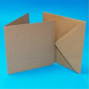 5x5 Kraft Cards and Envelopes (Pack of10)