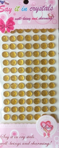 Gold Crystal Self Adhesive Gems