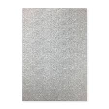 3 x A4 Silver Brushed Finish Super Smooth Non Shed Glitter Card