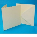 5x5 Scalloped Ivory Cards & Envelopes (Pack of 10)