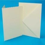 5x7 Scalloped Ivory Cards & Envelopes (Pack of 10)