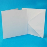 7  X 7 White Card and Envelope Pack x 8