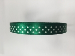 Deep Green 10mm x 12m Spotted Ribbon