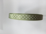 Sage Green 10mm x 12m Spotted Ribbon