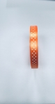 Citrus Orange 10mm x 12m Spotted Ribbon