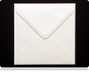 130mm Square Ivory Envelopes (100gsm)
