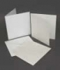 8 x 8  White Envelopes & Card (Pack of 6)