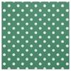 10 Sheets Green Polka Dot Card 250gsm