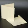 6x6 Scalloped Ivory Cards & Envelopes (Pack of 10)