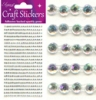 Eleganza Craft Stickers 3mm x 418 gems Iridescent