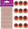 Eleganza Craft Stickers 4mm x  240 gems Red