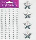 Eleganza Craft Stickers Silver Stars.