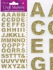 Eleganza Craft Stickers Bold Alphabet Set Gold