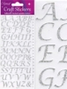 Eleganza Craft Stickers Stylised Alphabet Set Silver