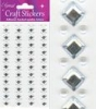 Eleganza Craft Stickers 8mm Square Diamond/4mm Pearls x 4 Strips